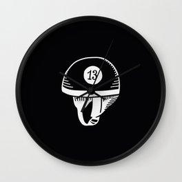Old helmet - 13 Wall Clock