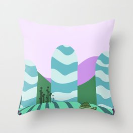 Turtle kawai Throw Pillow