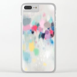 Dreamy Abstract Clear iPhone Case