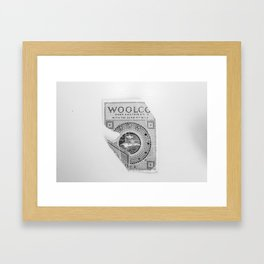 The Way Sewing Used To Be: Vintage Snap Fasteners B&W Framed Art Print