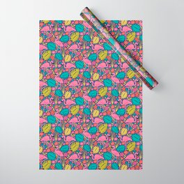 Tropical Flamingo Wrapping Paper