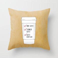 (More) Coffee Throw Pillow