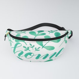 Watercolor home foliage - green Fanny Pack