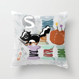 """S"" Throw Pillow"