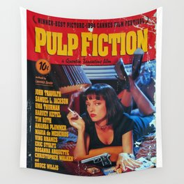 Pulp Fiction Poster Wall Tapestry