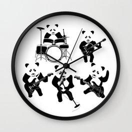 Panda Rock Band Wall Clock