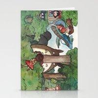 studio ghibli Stationery Cards featuring Studio Ghibli Crossover by malipi
