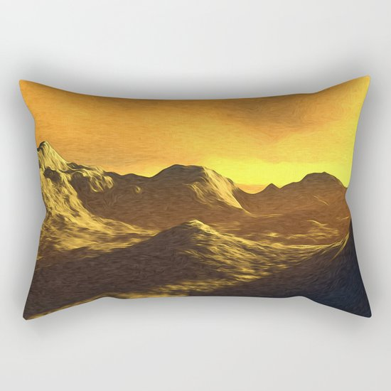 A Sunny Day On Mercury Rectangular Pillow