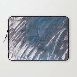 Charcoal abstract watercolor Laptop Sleeve