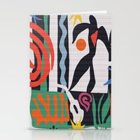 matisse Stationery Cards featuring inspired to Matisse (black) by Chicca Besso