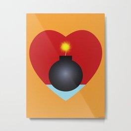 LOVE BOMB Metal Print