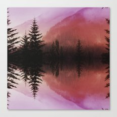 Sunset forest reflections Canvas Print