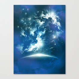 Space Fight Canvas Print