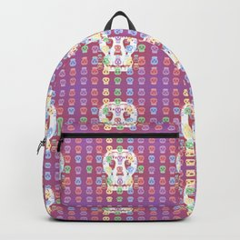 Skulls Pastel Pattern Backpack