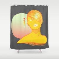 vodka Shower Curtains featuring Vodka Sunrise  by PKLdesigner