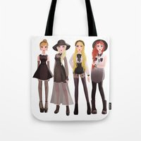 coven Tote Bags featuring Coven by archibaldart