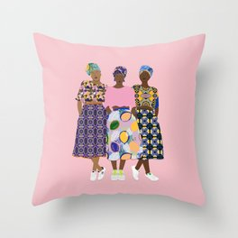 GIRLZ BAND Throw Pillow