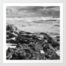 Stormy over Crackington Art Print