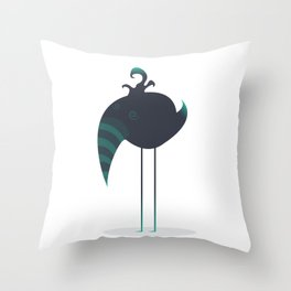 Melancholic Bird Throw Pillow
