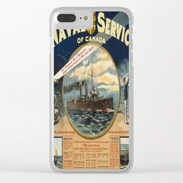 Vintage poster - Naval Service of Canada Clear iPhone Case
