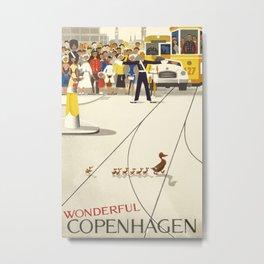 Vintage poster - Copenhagen Metal Print