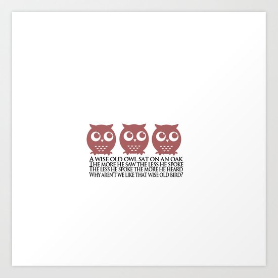 Twit Twoo Owl Art Print