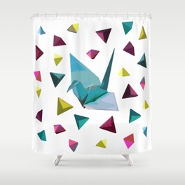 Origami carnival Shower Curtain