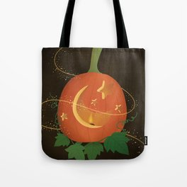 Magical Carved Pumpkin Tote Bag