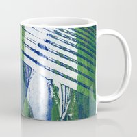 wave Mugs featuring Wave by Sandra Hedicke Clark