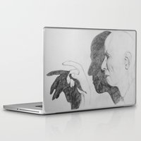crowley Laptop & iPad Skins featuring Mr. Crowley by Bela Zebub