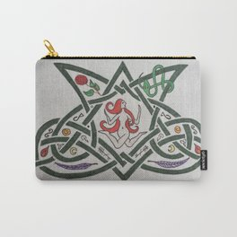 Green Celtic Snake Woman Carry-All Pouch