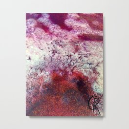 Planet V Mixed Media On Canvas Abstract Painting Metal Print