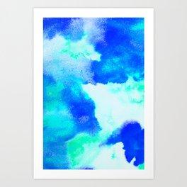 Blue Java Art Print