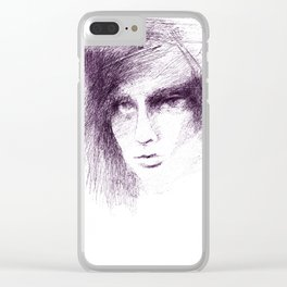 Face in the Web Clear iPhone Case