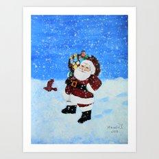 Santa /Christmas card  Art Print
