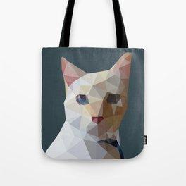 Geometric cat Lucifur Tote Bag