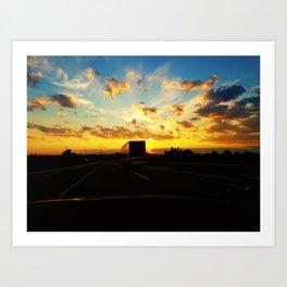 behind a truck Art Print