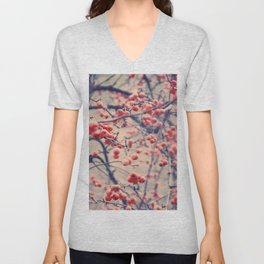 Winterberries Unisex V-Neck