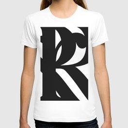 Hidden Letters. Baskerville R T-shirt