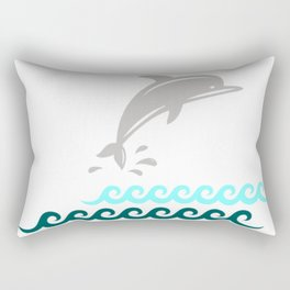 Flying Dolphin Rectangular Pillow