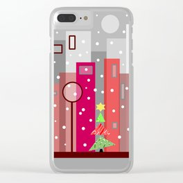 Christmas In The City Clear iPhone Case