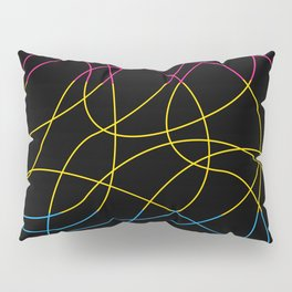 Abstract Threads – Pansexual Pride Flag Pillow Sham