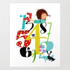 Emmas Numbers Art Print