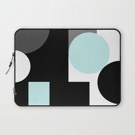 An abstract geometric pattern . Geometric shapes . Black sky blue white pattern . Laptop Sleeve