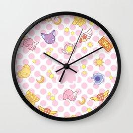 cardcaptor sakura cute pattern Wall Clock