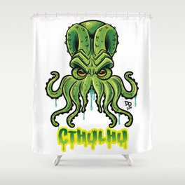 Cthulhu no background Shower Curtain