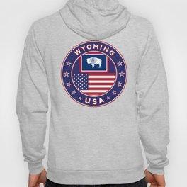 Wyoming, USA States, Wyoming t-shirt, Wyoming sticker, circle Hoody
