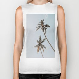 two palm trees Biker Tank