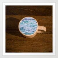 cup of sea Art Print