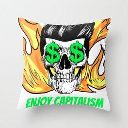 Love capitalism Throw Pillow